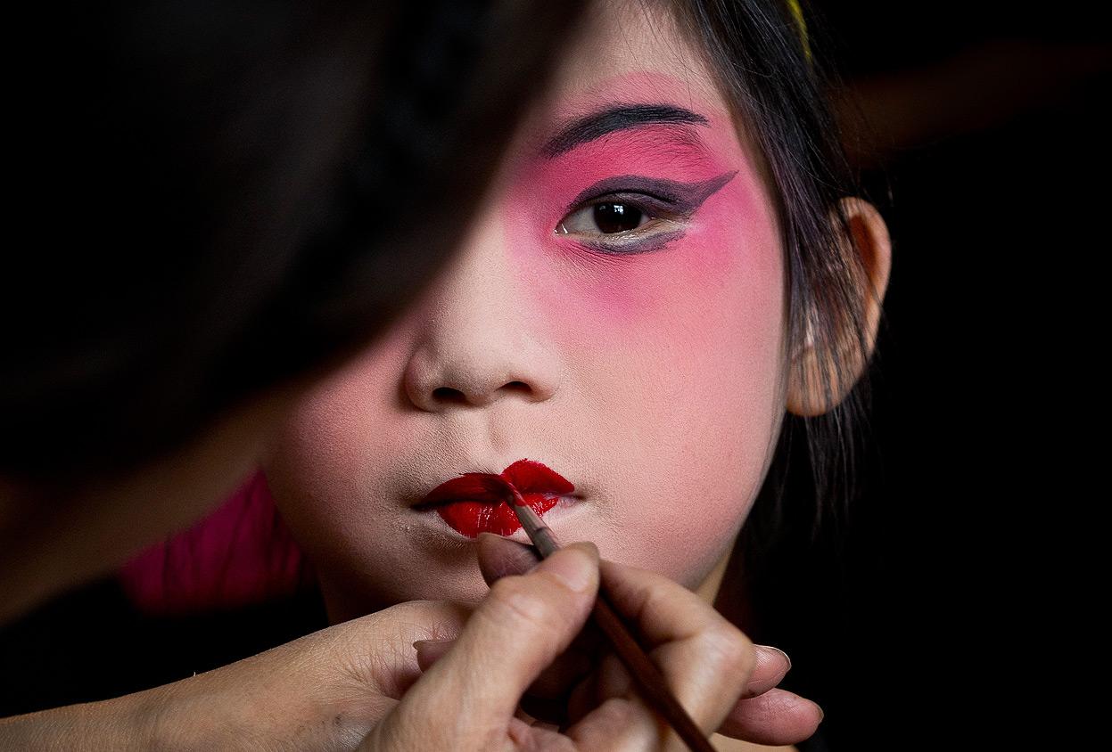 Макияж китаянки для девочки